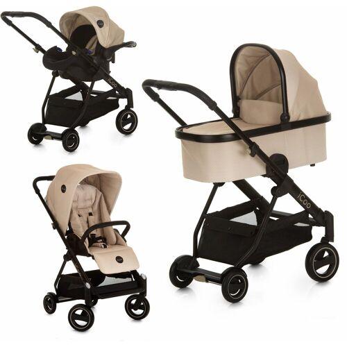 iCoo Kombi-Kinderwagen »Acrobat XL Plus Trio Set Sahara«, ; Kinderwagen