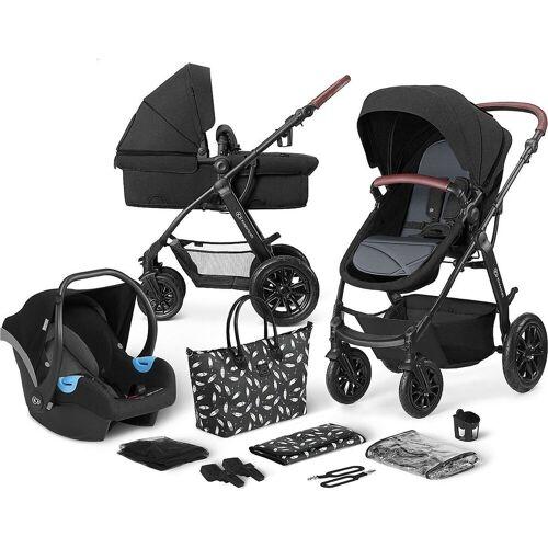 Kinderkraft Kombi-Kinderwagen »Kinderwagen Xmoov, multifunktional, 3in1, denim«, schwarz