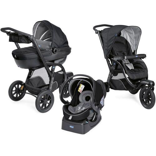 Chicco Kombi-Kinderwagen »Trio-System Activ3 Top, Jet Black«, mit Regenschutz; Kinderwagen