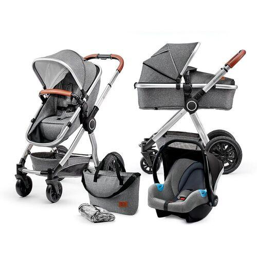 Kinderkraft Kombi-Kinderwagen »Kombi Kinderwagen Veo, 3in1, grey«, grau