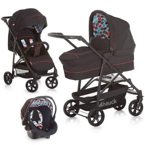 Fisher Price Kinderwagen »Toronto 4 Trioset - Black«, (5-tlg), 3in1 Kinderwagen-Set inkl. Babyschale