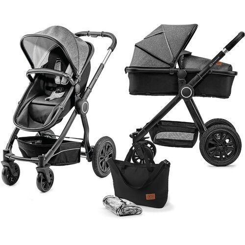 Kinderkraft Kombi-Kinderwagen »Kombi Kinderwagen Veo, 2in1, schwarz/grau«, schwarz/grau