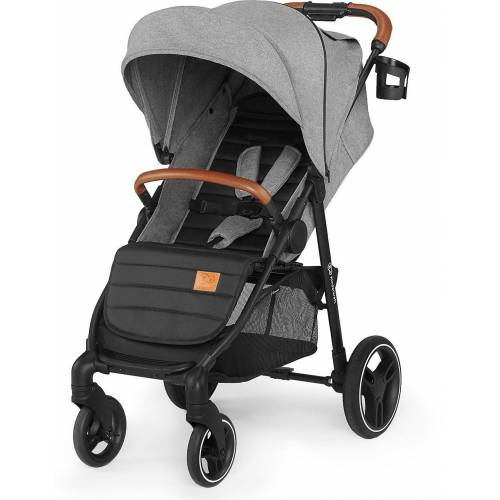 Kinderkraft Kombi-Kinderwagen »Kinderwagen Grande 2020, burgunderrot«, grau