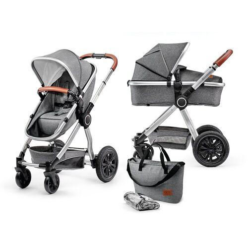 Kinderkraft Kombi-Kinderwagen »Kombi Kinderwagen Veo, 2in1, schwarz/grau«, grau