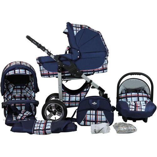 bergsteiger Kombi-Kinderwagen »Capri, blue stripes, 3in1«, (10-tlg), Made in Europe