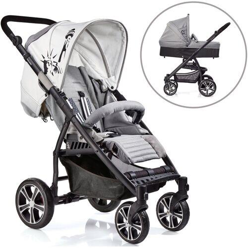 Gesslein Kombi-Kinderwagen »S4 Air+, Black/Grau & Babywanne C3 Grau«