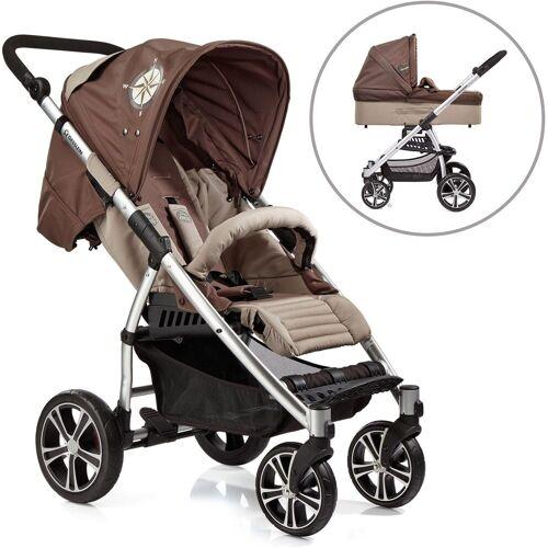 Gesslein Kombi-Kinderwagen »S4 Air+, Eloxiert/Nautik & Babywanne C3 Nautik«