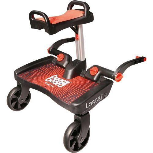 Lascal Kinderwagenaufsatz »BuggyBoard Maxi+ schwarz mit Sitz rot«, rot