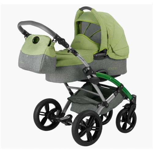 Knorrbaby Kombi-Kinderwagen »Voletto Happy Colour, grau-hellgrün«, Made in Europe