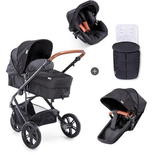 Hauck Dreirad-Kinderwagen »Pacific 3 Shop N Drive, Melange Caviar«, Kinderwagen, Jogger, Dreiradwagen, Jogger-Kinderwagen, Dreiradkinderwagen