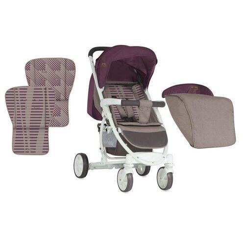 Lorelli Kombi-Kinderwagen »Kinderwagen, Buggy S300«, mit Fußsack, klappbar, schwenkbare Vorderräder, rot