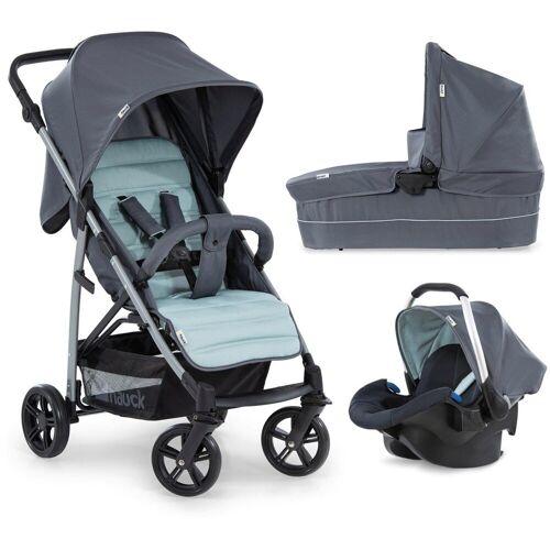 Hauck Kombi-Kinderwagen »Rapid 4 Plus TrioSet, grey/mint«, mit Babyschale; Kinderwagen