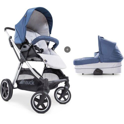 Hauck Kombi-Kinderwagen »iPro Mars Duoset, denim/silver«, mit Babywanne; Kinderwagen