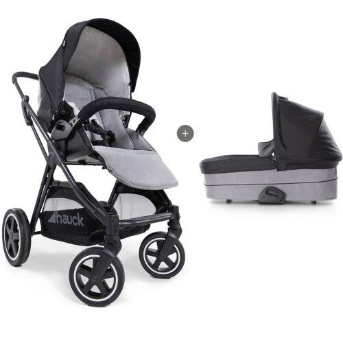 Hauck Kombi-Kinderwagen »iPro Mars Duoset, caviar/stone«, mit Babywanne
