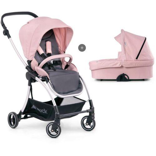 Hauck Kombi-Kinderwagen »Eagle 4S Duoset, pink/grey«, mit Babywanne, Fußsack und Moskitonetz