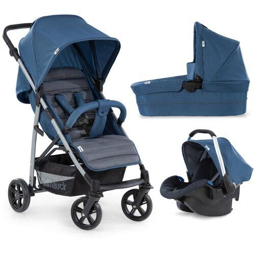 Hauck Kombi-Kinderwagen »Rapid 4 Plus TrioSet, denim/grey«, mit Babyschale; Kinderwagen