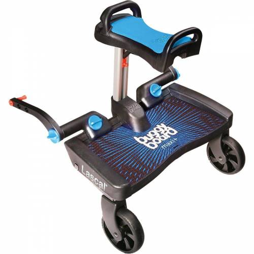 Lascal Kinderwagenaufsatz »BuggyBoard Maxi+ schwarz mit Sitz rot«, blau
