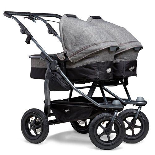 tfk Zwillings-Kombikinderwagen »duo«, Zwillingskinderwagen; Kinderwagen für Zwillinge; Zwillingswagen, Premium Grau
