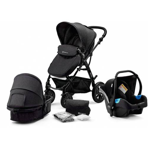 Kinderkraft Kombi-Kinderwagen »Kombi Kinderwagen Moov, 3in1, schwarz«, schwarz