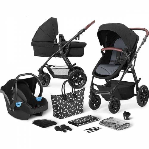 Kinderkraft Kombi-Kinderwagen »Kinderwagen Xmoov, multifunktional, 3in1, denim«, schwarz