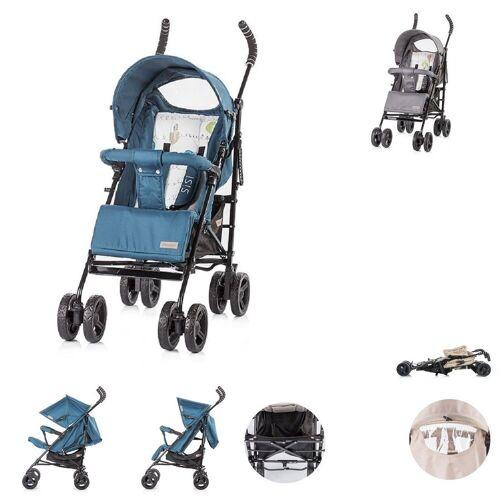 Chipolino Kinder-Buggy »Kinderwagen Sisi, Buggy«, ab 6 Monaten, zusammenklappbar, Sonnendach, blau