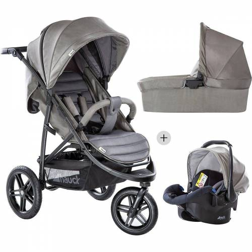 Hauck Kombi-Kinderwagen »Kombi Kinderwagen Rapid 3R Trioset, Charcoal«