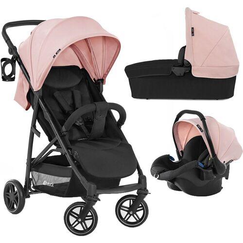 Hauck Kombi-Kinderwagen »Kombi Kinderwagen Rapid 4R Plus Trioset, Black«, rosa