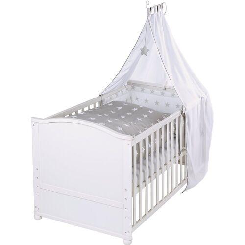 roba® Babybett »Kinderbett komplett Little Stars, weiß, 70 x 40 cm«