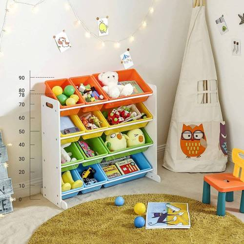 SONGMICS Aufbewahrungsbox »GKR04W«, Kinderregal, Kinderzimmerregal, Spielzeugregal, vier Farbe