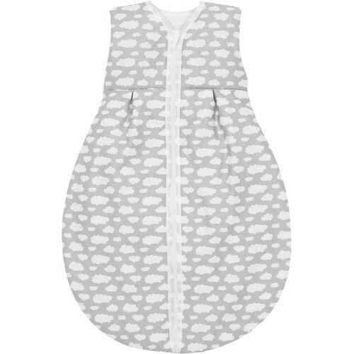 MyToys-COLLECTION Babyschlafsack »Sommer- Schlafsack Molton, Schlafmütze grün«, grau