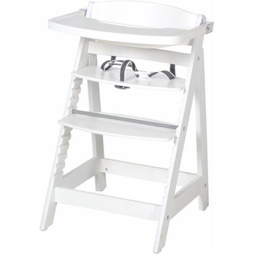 roba® Hochstuhl »Treppenhochstuhl, Sit Up Fun, weiß« aus Holz