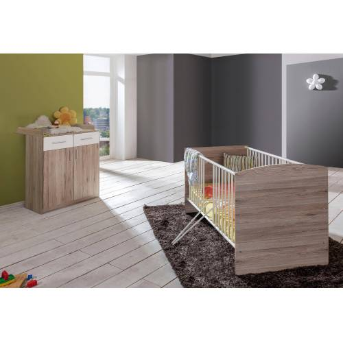 Babymöbel-Set »York«, (Spar-Set, 2-tlg), Bett + Wickelkommode