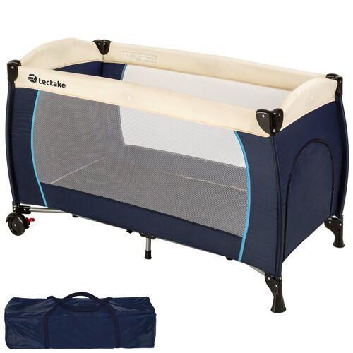 tectake Baby-Reisebett »Kinderreisebett«, blau