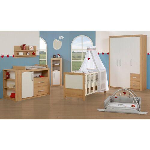 Roba® Kinderbett & Wickelkommode (breit) Sparset LOUISA, Weiß/Eich, weiß