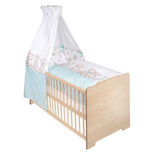 Zöllner Komplettbett »Bären«, 7-tlg., Babybett+ Matratze+ Himmelstange+ Himmel+ Nestchen+ Bettwäsche