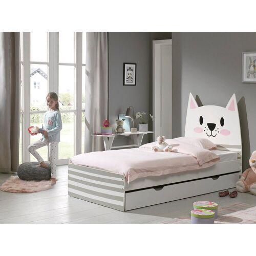 Vipack Kinderbett, Katzenmotiv, weiß