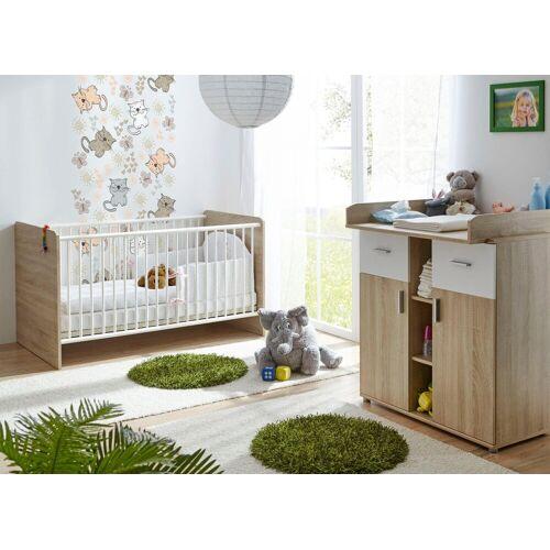 Ticaa Babymöbel-Set »Nico«, (Set, 2-tlg), Bett + Wickelkommode