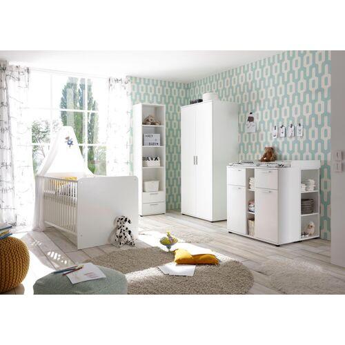 Babyzimmer-Komplettset »Bibo«, (Set, 3-tlg), Bett + Wickelkommode + 2-trg. Schrank