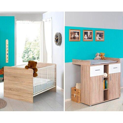 BMG Babymöbel-Set »Maxim«, (2-tlg), Bett + Wickelkommode