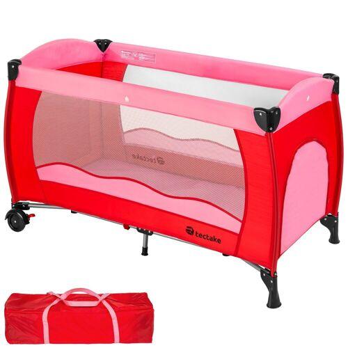 tectake Baby-Reisebett »Kinderreisebett«, pink