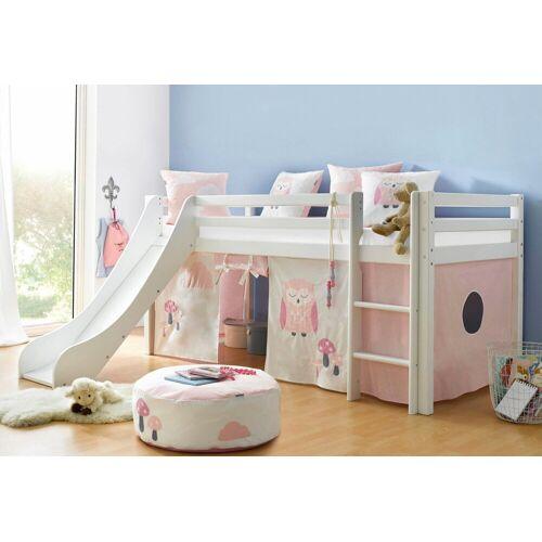 Hoppekids Hochbett mit Matratze und Textil-Set, rosa