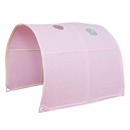 Homestyle4u Betttunnel, Tunnel Zelt Bettzelt Bettdach Spieltunnel, rosa