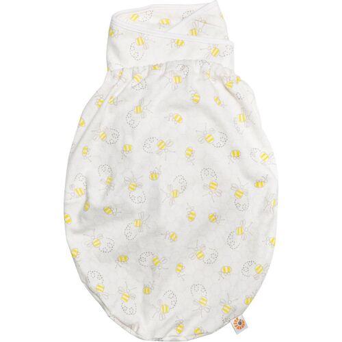 Ergobaby Babyschlafsack »Puck-Mich-Sack Original Swaddler - Bee Happy«, weiß