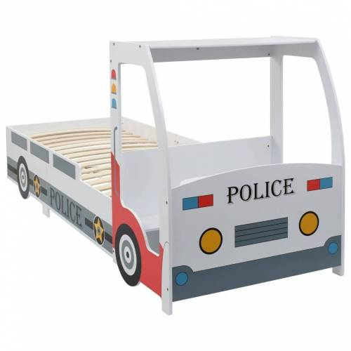 vidaXL Kinderbett »Kinderbett im Polizeiauto-Design mit Schreibtisch 90 x 200 cm«