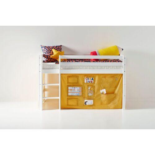 Hoppekids Hochbett mit Matratze und Textil-Set, gelb