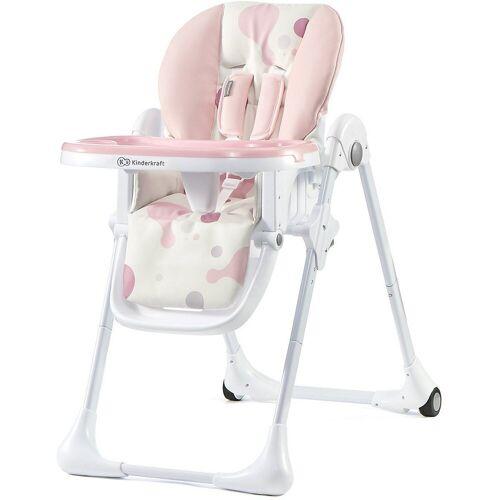 Kinderkraft Hochstuhl »Hochstuhl Yummy, rosa«, rosa/weiß