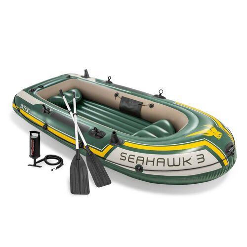 Intex Schlauchboot »Boot Seahawk 3 Schlauchboot Angelboot Paddel Pumpe Boot-Set«