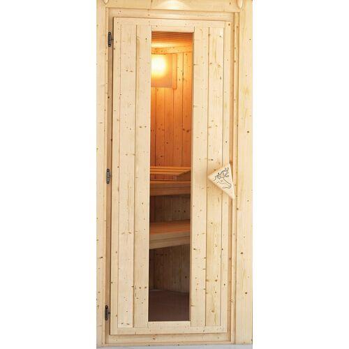 Karibu Saunatür für 38/40 mm Sauna, BxH: 64x173 cm, natur