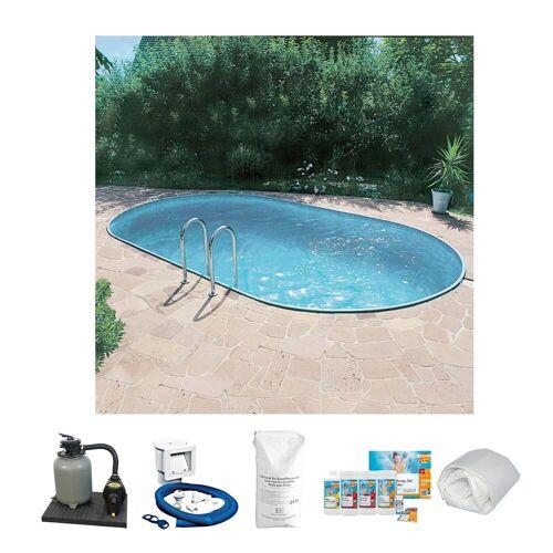 Clear Pool Ovalpool »Set 6-tlg. «, weiß