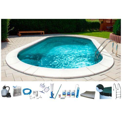 MyPool Set: Ovalpool , 10-tlg., BxLxH: 400x800x120 cm, weiß